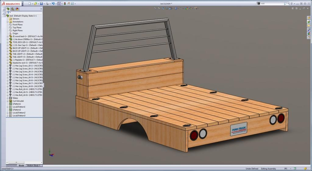 Wooden flatbed build info, page 25 shows what it looks ...
