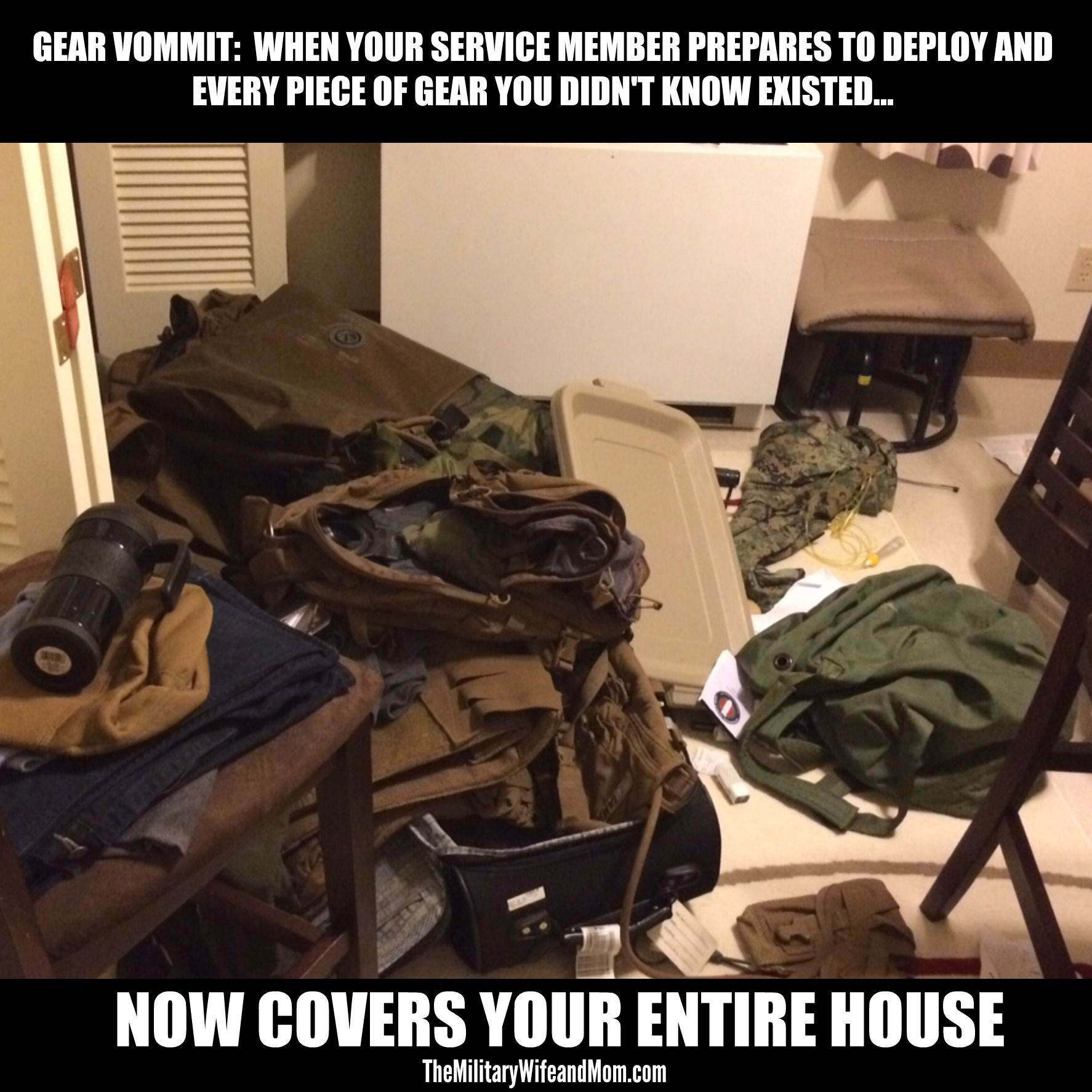 Hilarious Military Deployment Meme For Military Spouses