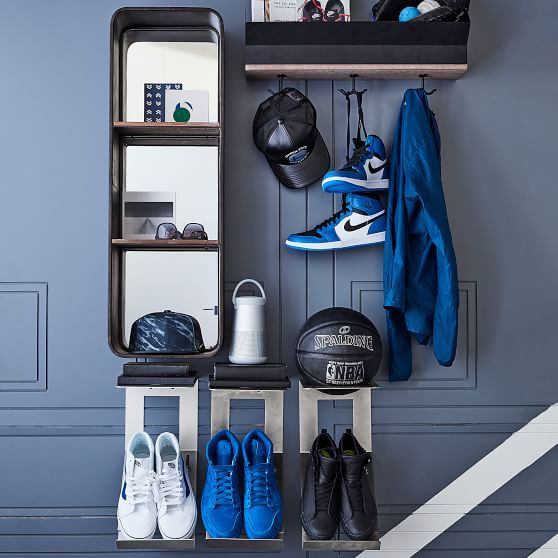 Shoe Amp Hat Metal Wall Organization Basketball Room