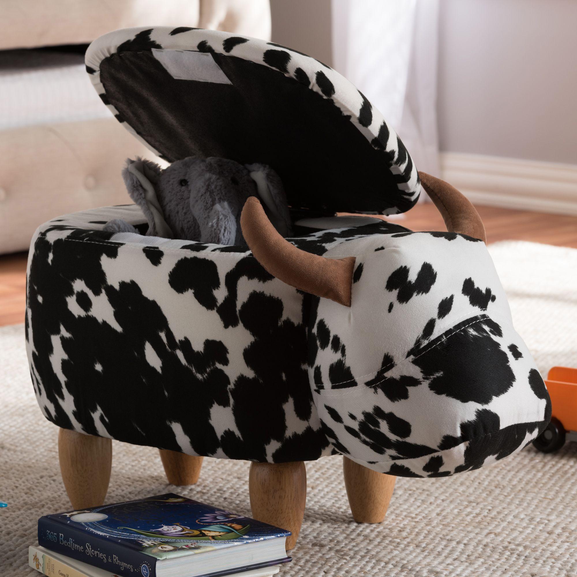Baxton Studio Mignonne Contemporary Wool Upholstered Buffalo Storage Ottoman Bso8801 Otto Yurt