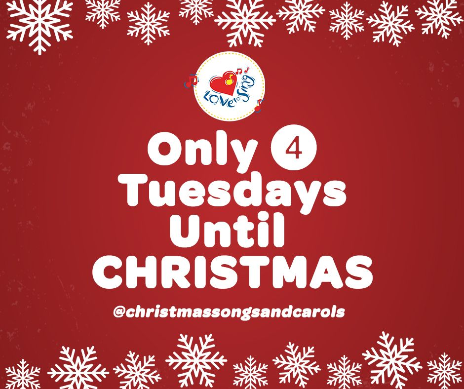 4 Tuesdays to GO! ❄️🎄🎅🎁☃️ We are feeling the Christmas Spirit! #christmascountdown #christmasongs #christmascarols #lovetosing #christmasjoy #christmashappiness #christmaspirit