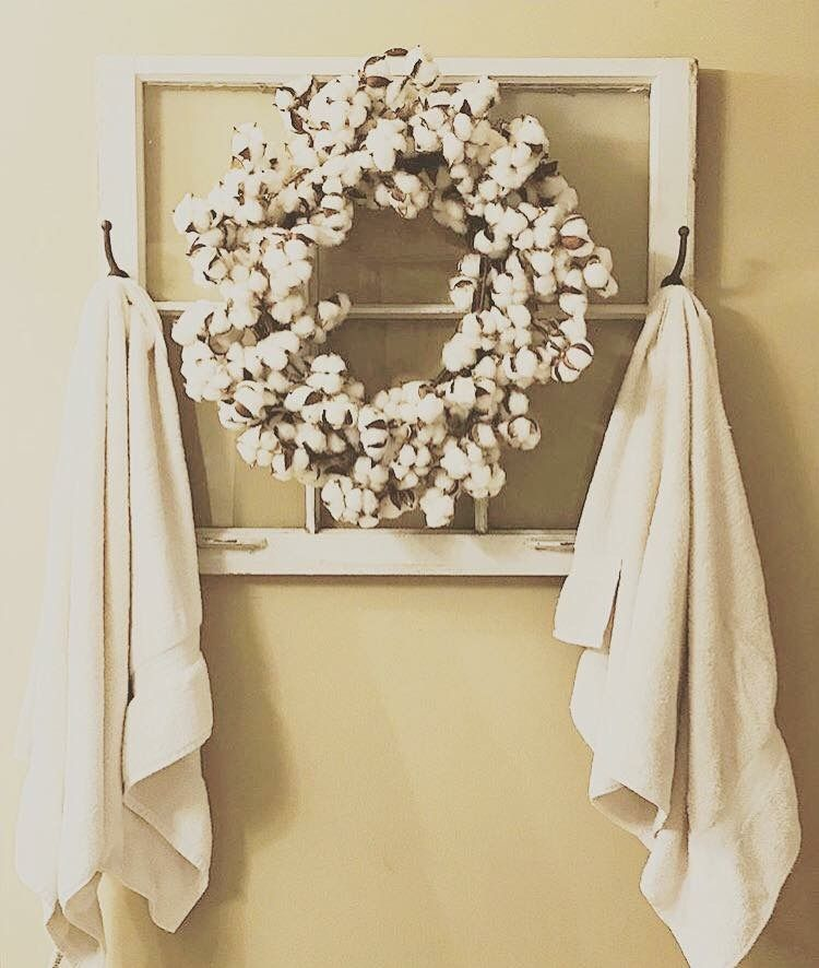 Cotton wreath from Southern with Grace | Home Ideas - Bathroom ...