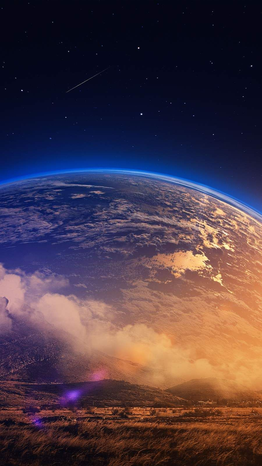 Earth View iPhone Wallpaper - iPhone Wallpapers