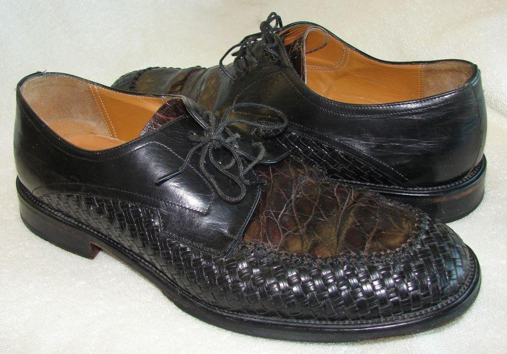 a5d8269d17d Mezlan Genuine Crocodile Black Brown Woven Oxford Dress Shoes Men s Size   9.5 M  fashion  clothing  shoes  accessories  mensshoes  dressshoes (ebay  link)