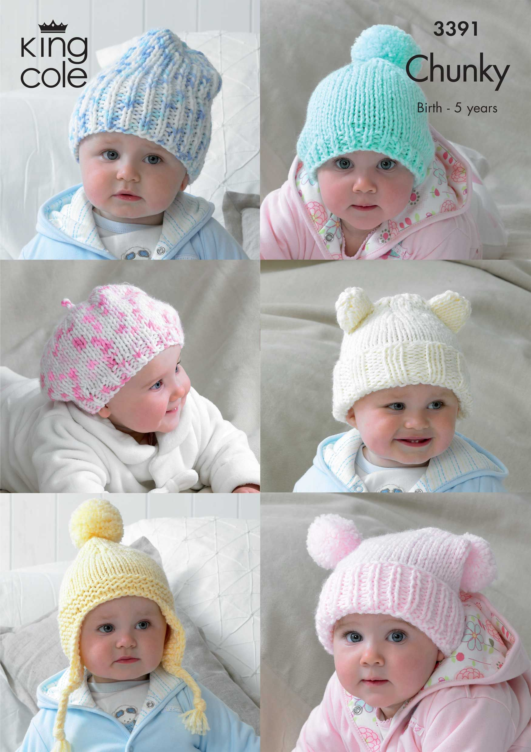 3391   Knitting Pattern   Children\'s Hats   TR Style   Pinterest ...