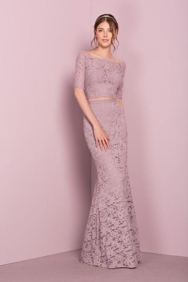 Pretty Purple Bridesmaid Dresses - Purple one-shoulder wedding dress ...