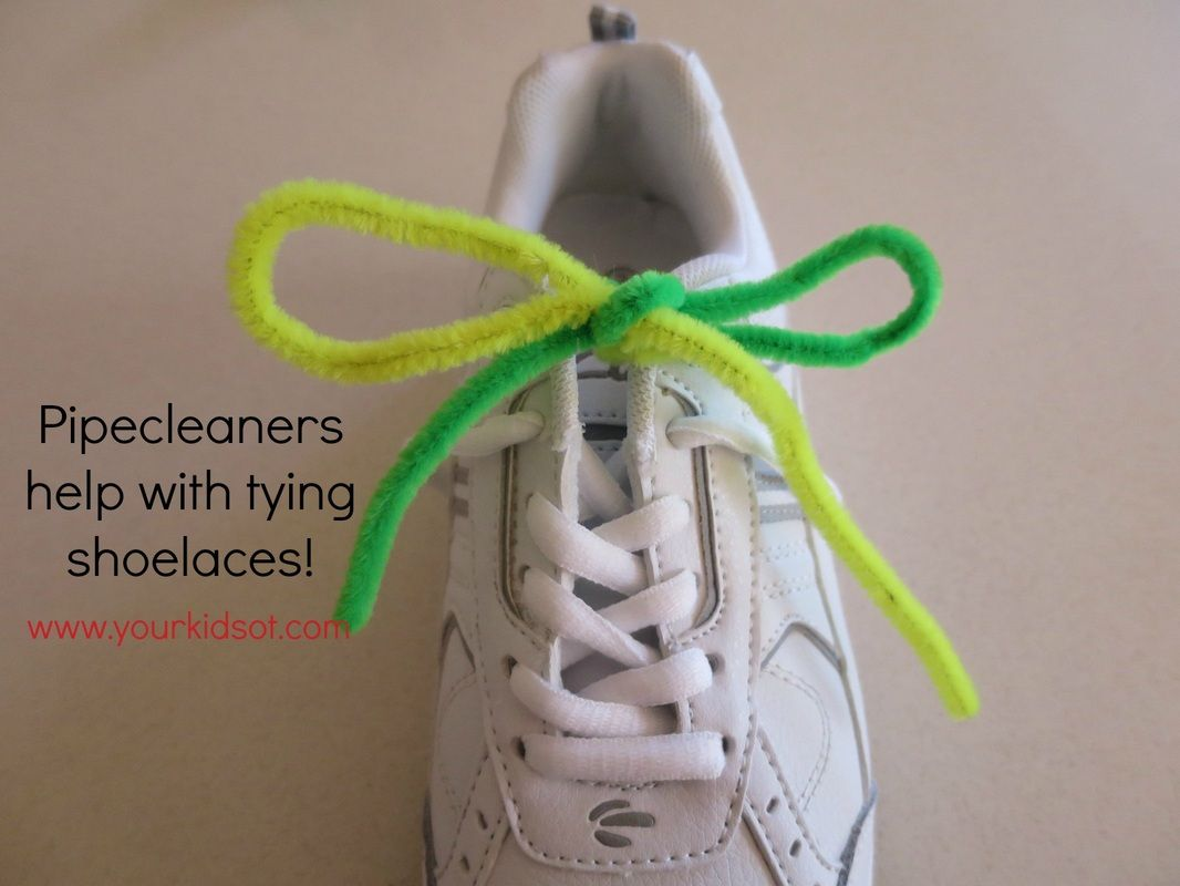 Pipecleaners Help With Learning To Tie Shoelaces Your