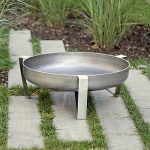 Sol 72 Outdoor This fire pit is of contemporary look. It will complement many outdoor decors, both in winter and summer. The bowl's surface is sanded to ensure natural rust to form over time. This product is very durable and will last a lot of years.