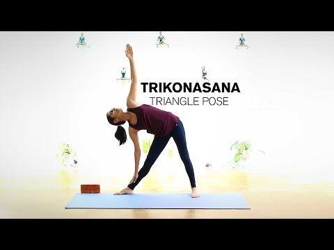 how to do trikonasana  triangle pose  youtube  triangle