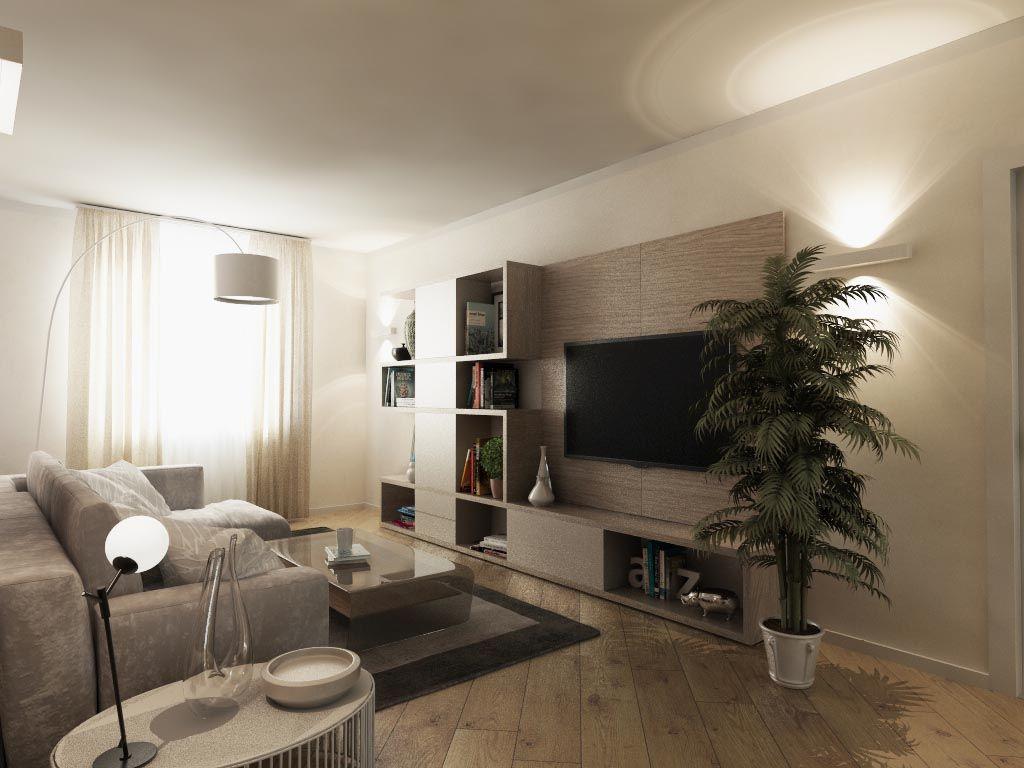 Un soggiorno tutto nuovo e moderno Soggiorno moderno