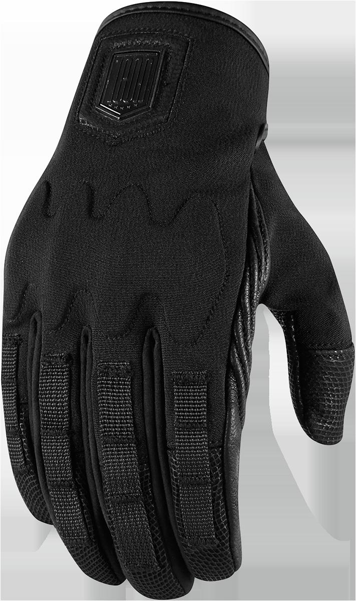 Motorcycle gloves dubai - Icon 1000 Forestall Short Softshell Motorcycle Gloves Black