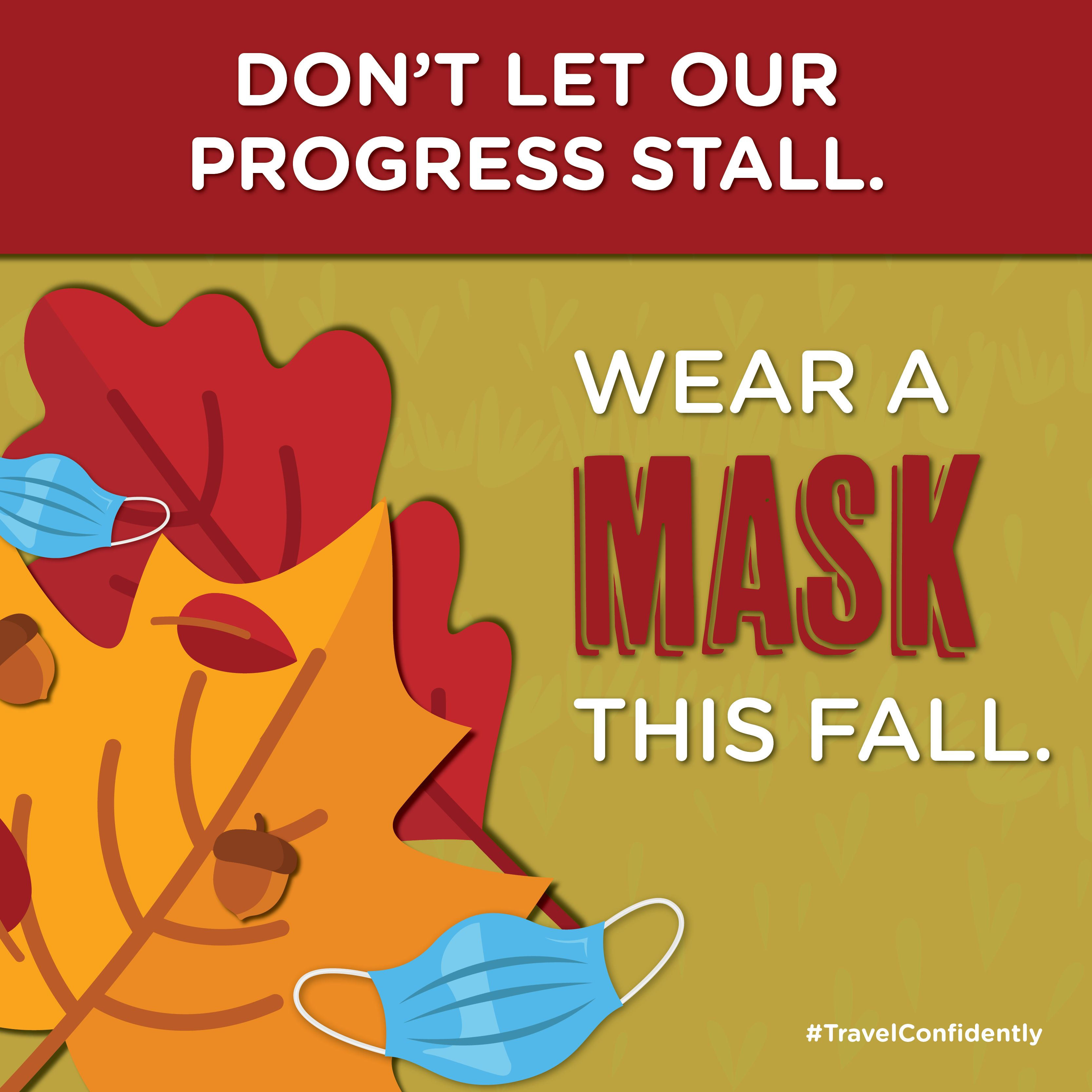 Don T Stall This Fall Wear A Mask In 2020 How To Wear Cayuga Mask