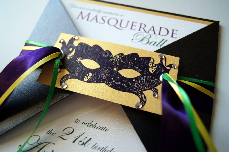 Ariannes Masquerade Ball Custom Invitation Suite. $6.00 ...