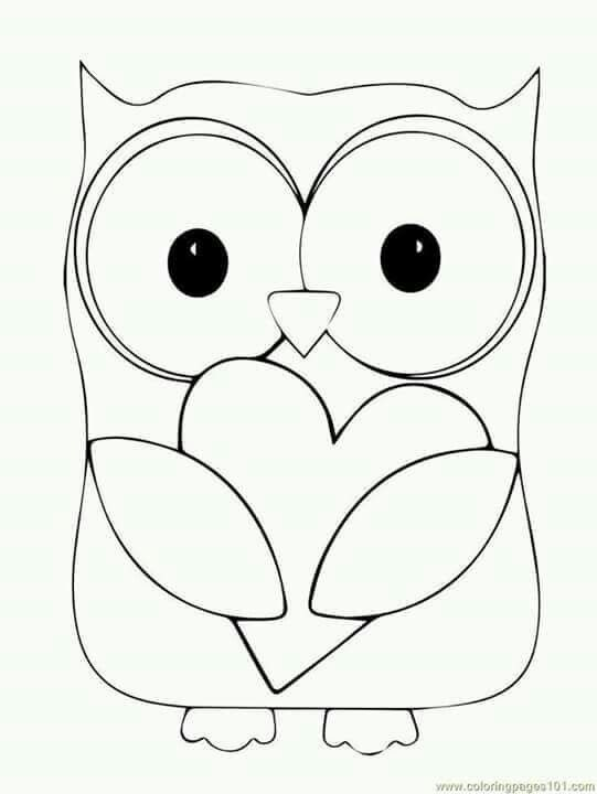 Para Vestido Owl Coloring Pages Heart Coloring Pages Owl Patterns