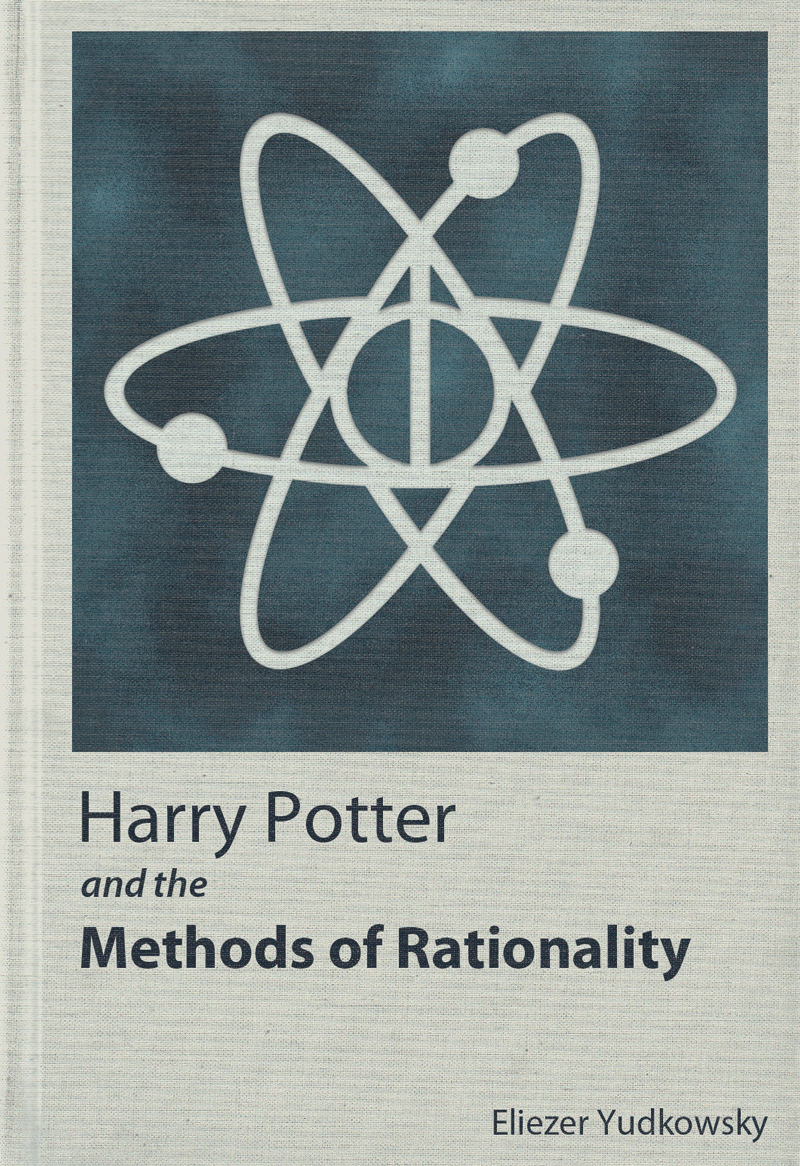 Harry Potter And The Methods Of Rationality Cover Book Stamp Ex Libris Book Design
