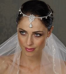 Caridad -Royal Collection - Kim Kardashian inspired Swarovski wedding  headpiece - PREORDER 7a623bc80cc