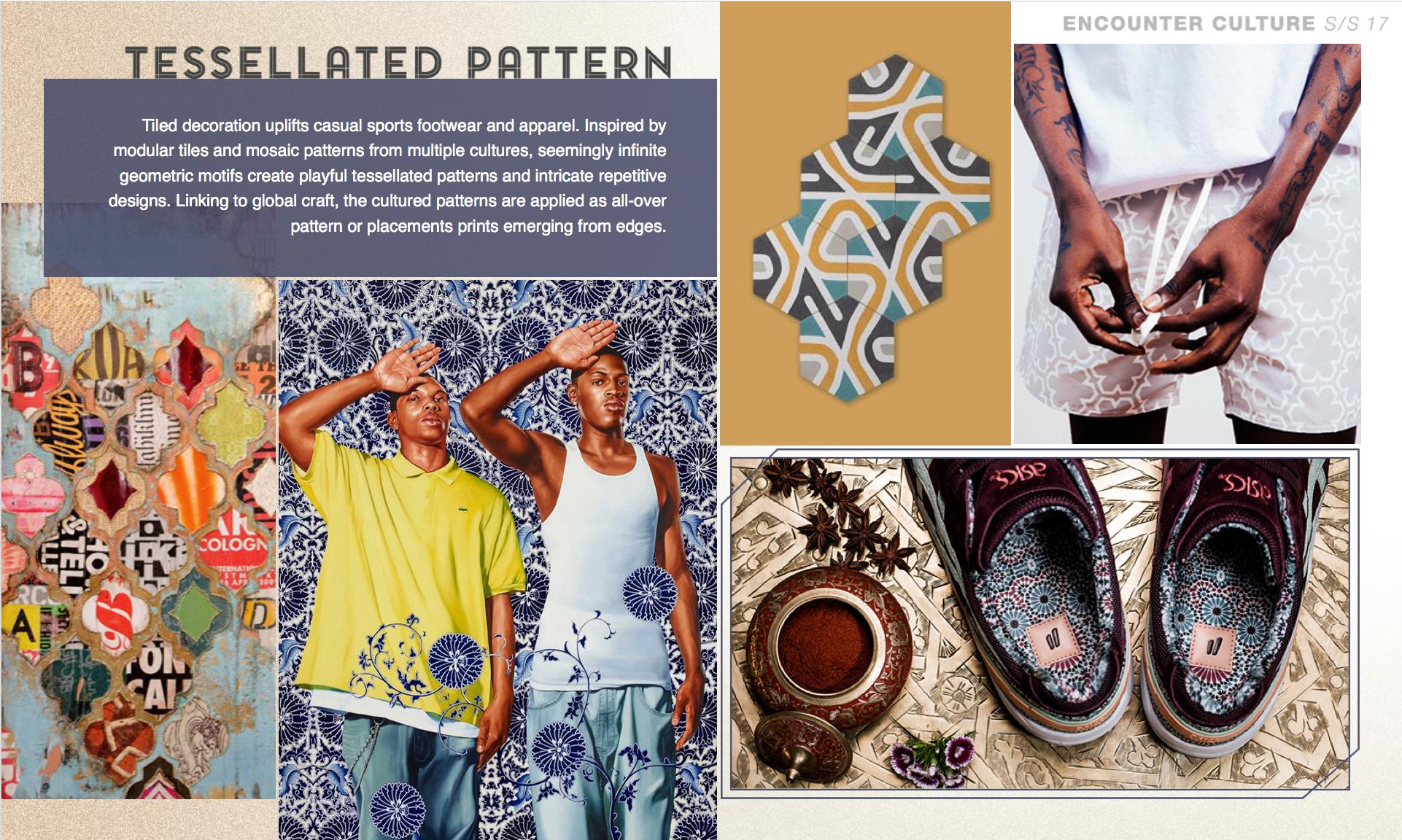 Fashion Trends Print And Pattern  Tessellated Pattern  Mosaic
