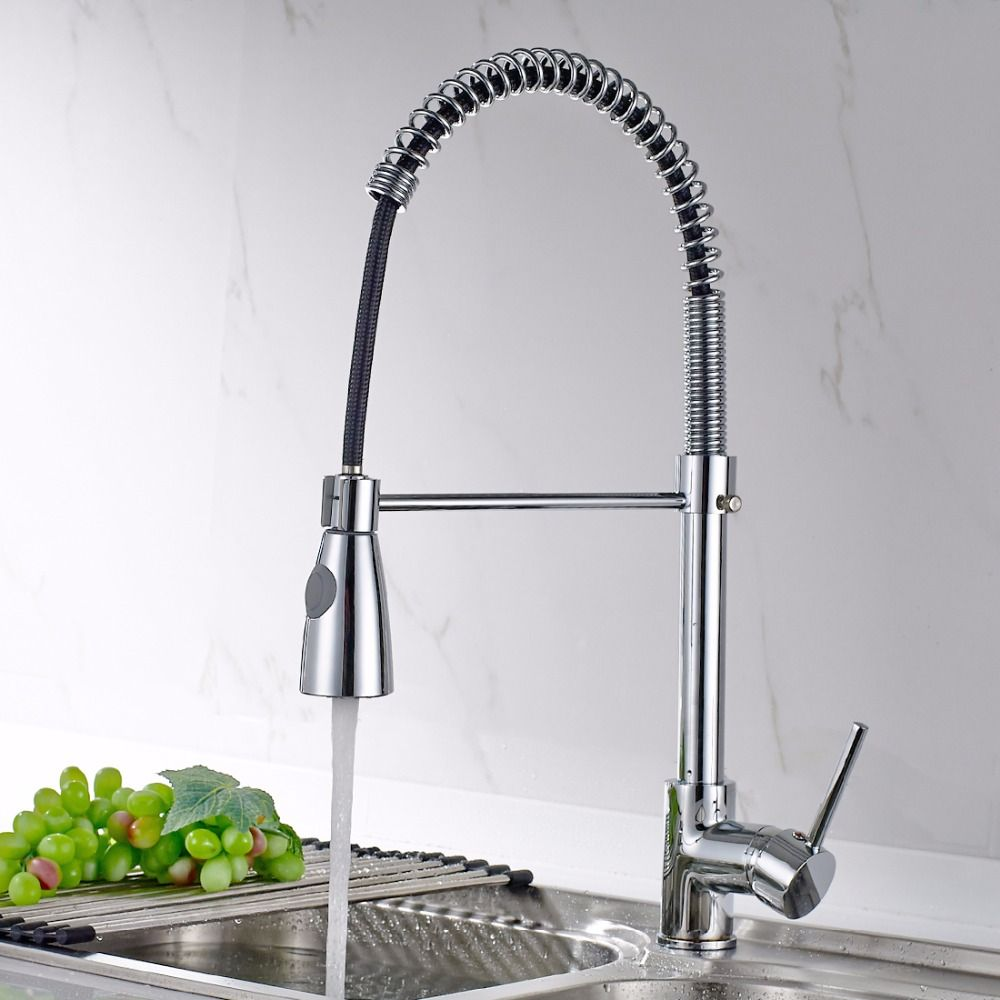 Reviews Spring Style Kitchen Faucet Brushed Nickel Faucet Pull Out New Brushed Nickel Kitchen Faucet 2018