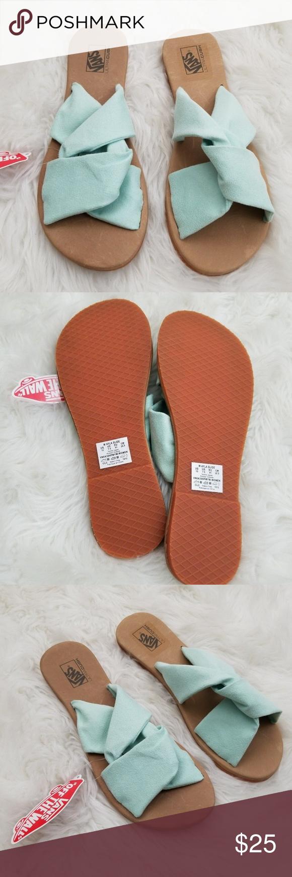 89ea928c18e7 VANS Ayla Suede Slide Sandals Bay Green 10 Brand new in box. Vans Ayla Suede