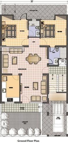 30 Feet By 60 Feet 30x60 House Plan Duplex House Design House