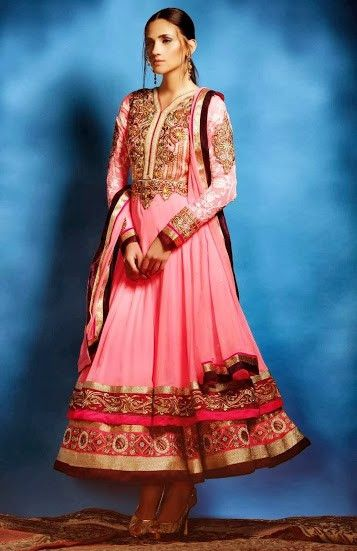 Light Pink Embroidered Anarkali, $189 USD including stitching.  Available at www.lashkaraa.com/collections/designer-anarkali-suits