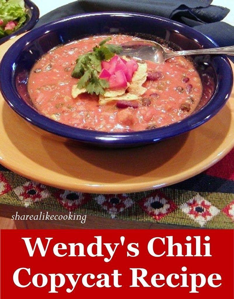 Wendy's Chili Copycat Recipe Gluten Free Copycat