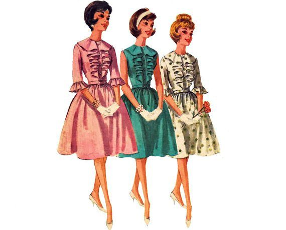 1950s Unlimited 3 Girls Fashion Illustration Vintage Cheap Designer Clothes Fashion Drawing