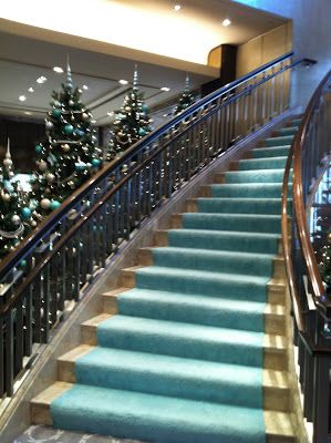 Christmas At Tiffany & Co ~Kennedy Tiffany staircase at the 5th Avenue store..