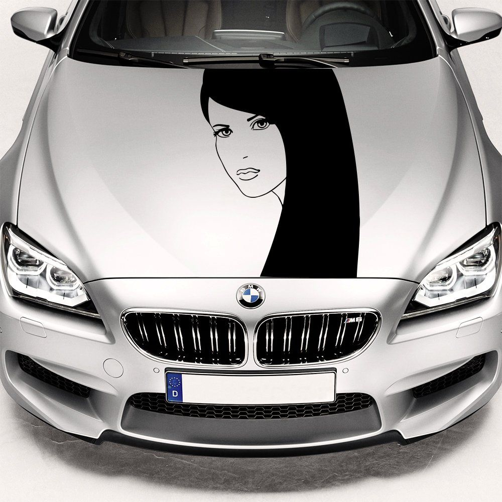 Amazoncom Car Decals Hood Decal Vinyl Sticker Girl Beauty Salon - Vinyl transfers for cars