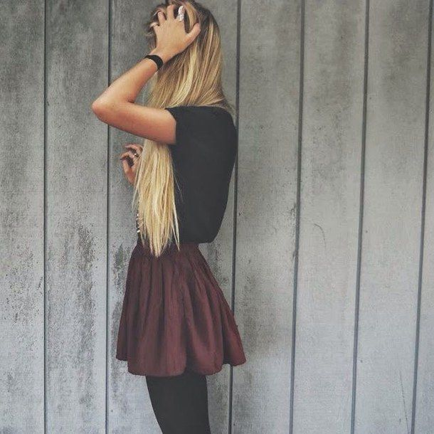 Fall Outfit Long Blonde Hair Long Hair Outfits Skater