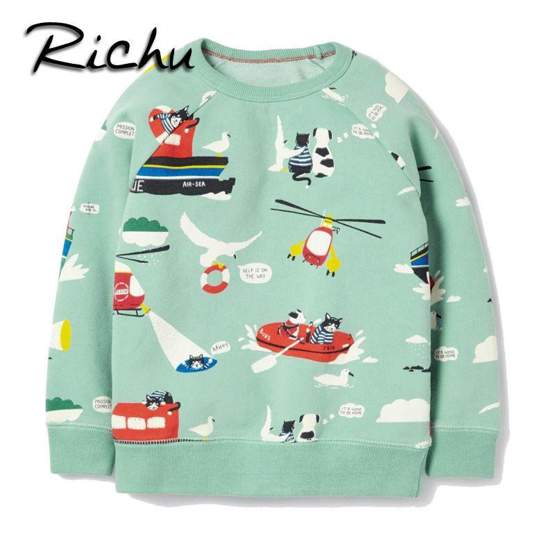 be923ede Richu cotton sweatshirts for girls cute printed t shirts for girls fashion  full sleeve cartoon t shirt kids t shirt 2 3 4 5 6 7y //Price: $26.37 // ##  ...