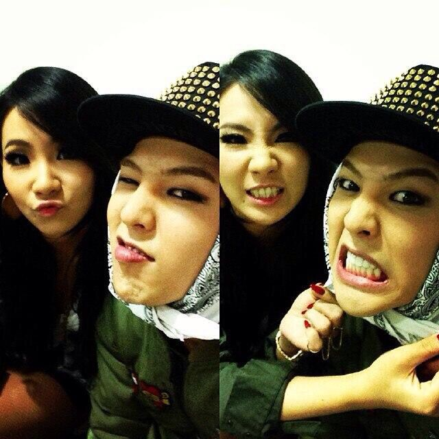 CL ( Lee Chae Rin ) and G-D