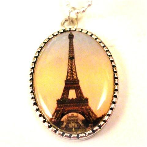 Eiffel Tower Necklace Photo Art Charm Pendant   La by pink80sgirl, $21.00