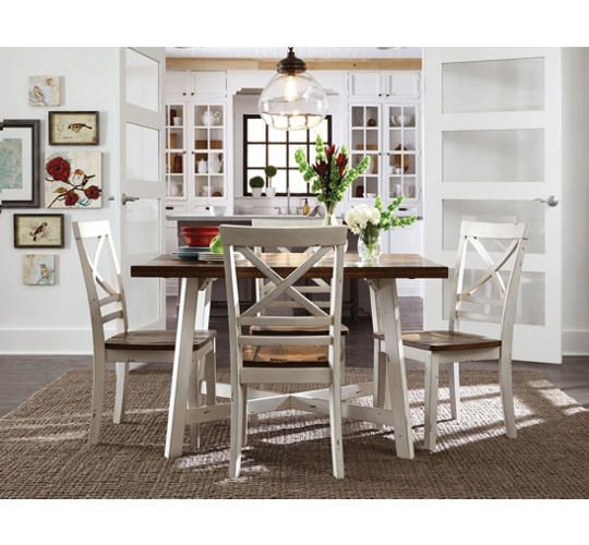 Amelia Table And 4 Chairs Art Van Furniture Contemporary