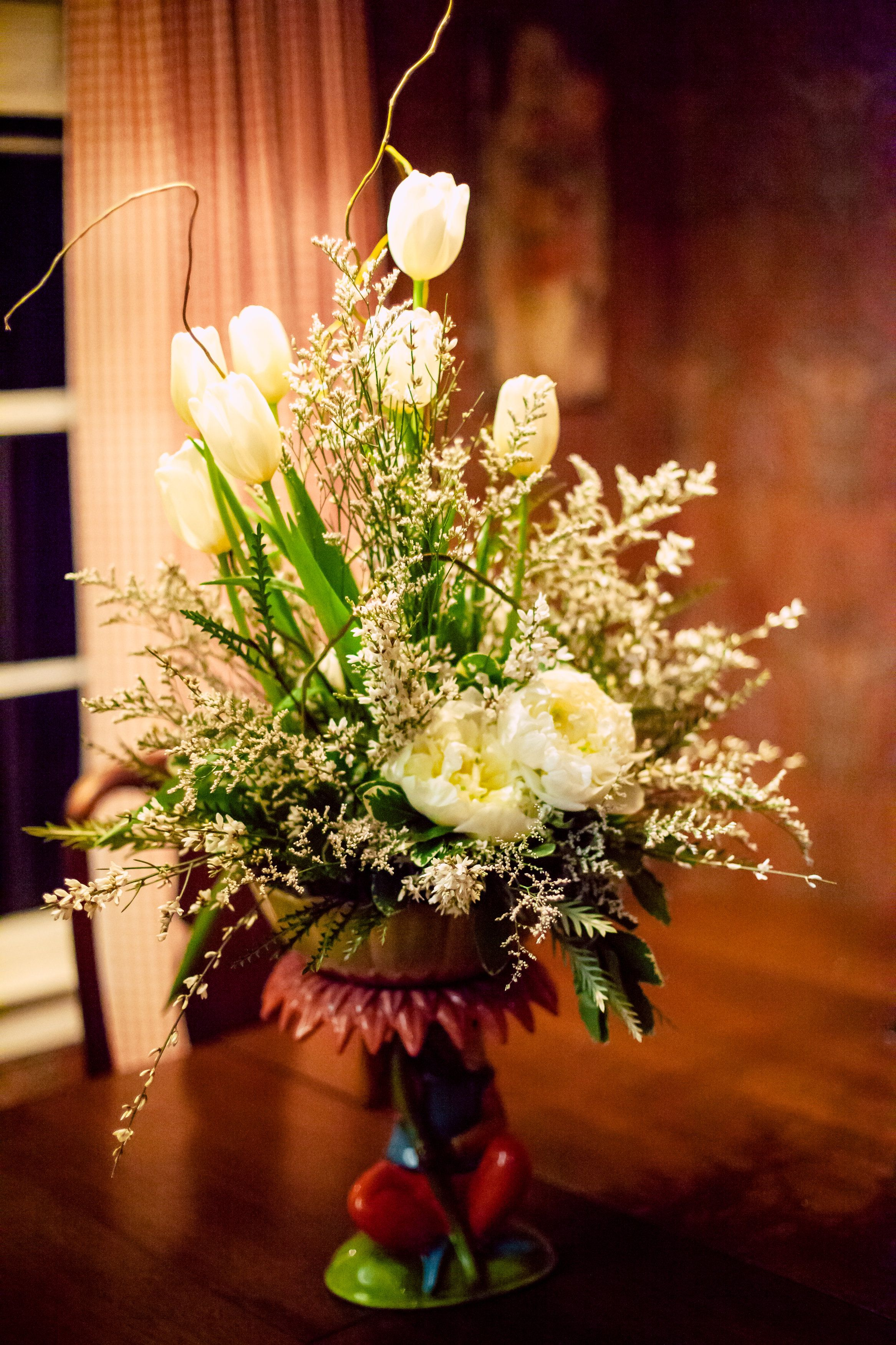 Home church flowers funky vases wedding decorations
