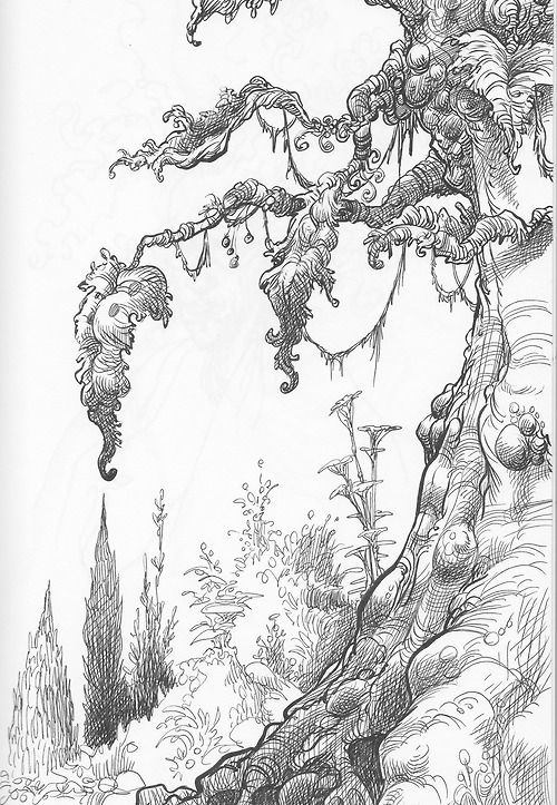 фантастический лес рисунок карандашом программами лучше всего