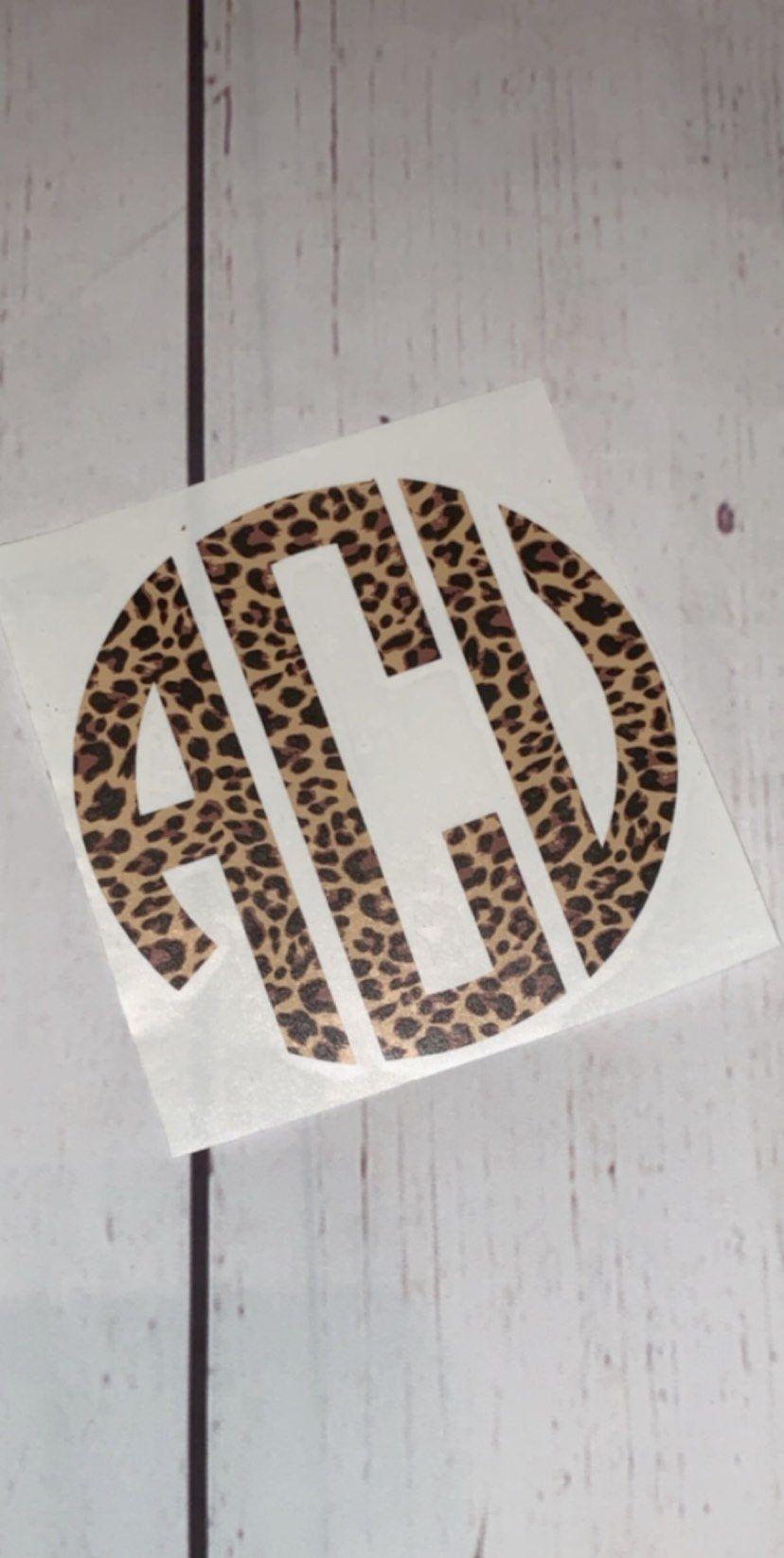 Cheetah Print Monogram Leopard Print Monogram Vinyl Monogram Etsy Cute Car Decals Car Monogram Decal Car Decals Vinyl [ 1644 x 828 Pixel ]