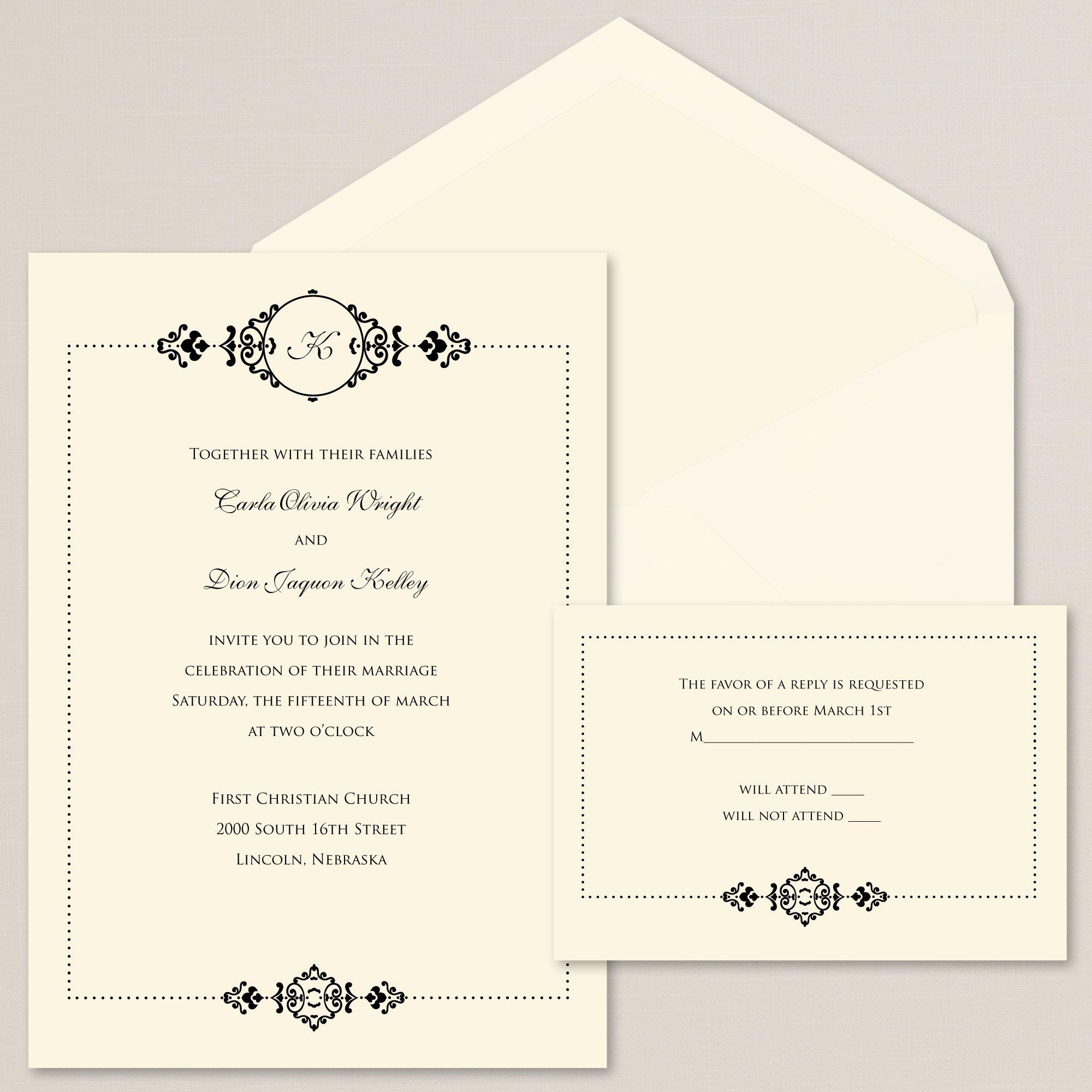 Lovely Elegance Wedding Invitation | Weddings, Exclusively weddings ...