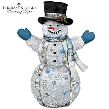 Thomas kinkade pull up indooroutdoor snowman with lights thomas kinkade pull up indooroutdoor snowman with lights collapsible 4 feet mozeypictures Image collections