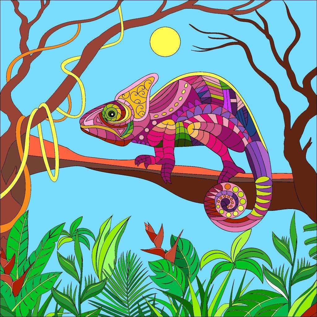 Lizard In The Moonlight In