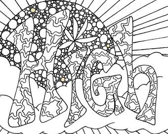 Sweet Leaf - Adult Coloring Page by The Artful Maker