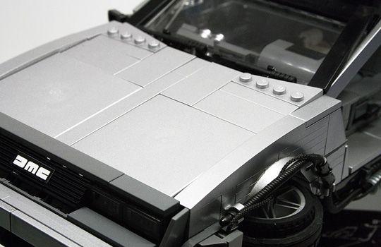 back to the future 2 delorean car lego
