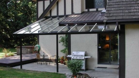 Glass Patio With Retractable Shades Patio Shade Pergola Patio Design