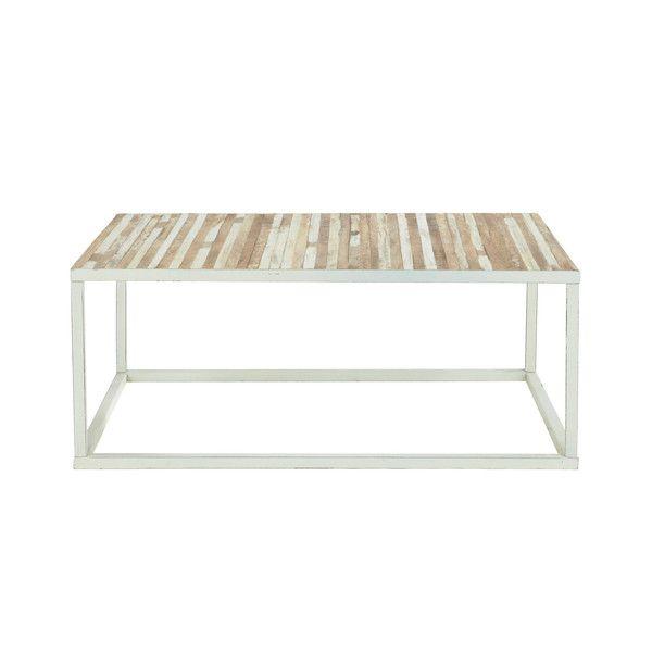 Table basse en métal blanc   Table basse bois, Maison du ...