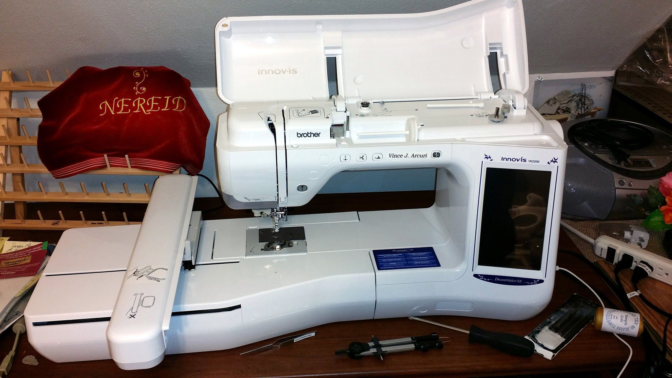 Brother Ve 2200 Dream Maker Upper Thread Maintenance Brother Embroidery Sewing Machine Brother