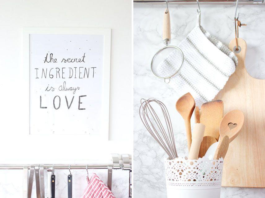 Ein gemalter Spruch und Deko für die Küche Diys and Apartments - deko f r die k che