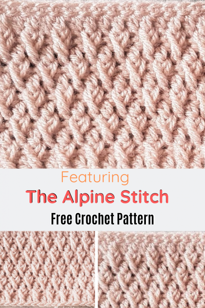 Learn A New Crochet Stitch: The Crochet Alpine Stitch - Knit And Crochet Daily