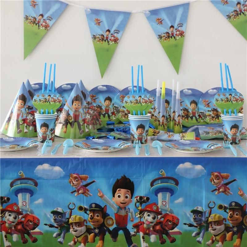 ... China decoration supplies Suppliers paw patrol theme Children Party Sets Tableware Sets Paper Plate Napkins Happy Birthday Party Supplies Decoration & 103pcs lot paw patrol theme Children Party Sets #Kitchenutensils ...