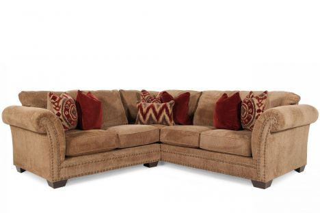 Ashley Grecian Amber Sectional Sectional Mathis Brothers