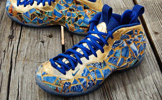 online retailer eab83 c9d37 Nike inspired from Kintsugi Nike Foamposite, Sneaker Bar, Foam Posites,  Custom Sneakers,